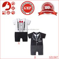 wholesale bodysuit for weight loss gentleman boy newborn fashion bodysuit organic cotton full baby bodysuit