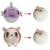 2018 new round slow rising squishy cute unicorn plush toy with pu stress ball for kids gift