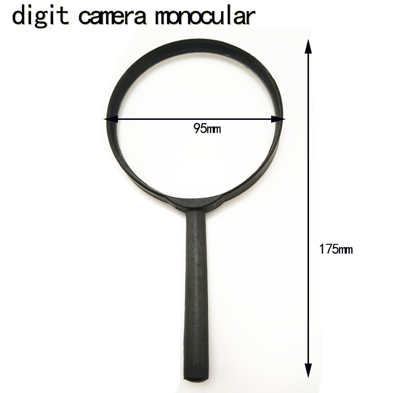 2x90 high quality plastic handheld magnifying glass