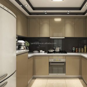 Kenya Customized Design Champagne Lacquer Kitchen Cabinet