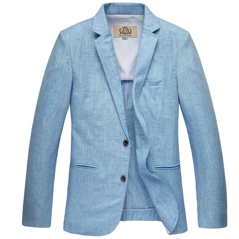 Compra chaquetas de lino para hombres online al por mayor