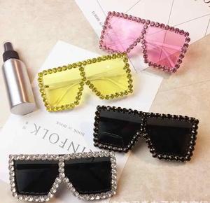 hot sell fashion bling bling diamond sunglasses for girls