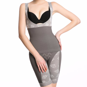 bamboo charcoal fiber bodysuit shapewear with far-infrared function