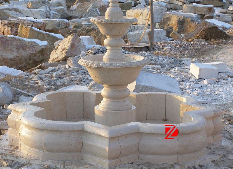 Stone Hand Carved French Garden Fountains