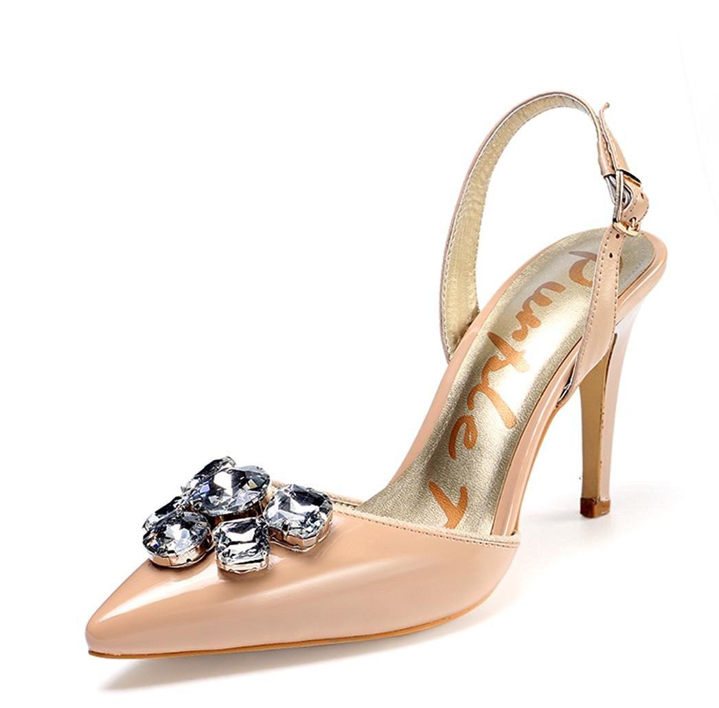 5ff75521ee8 Get Quotations · CXYY Summer nude sandal stiletto fashion women high heel  sandal rhinestones high heel women s shoes