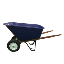 Heavy duty pneumatic wheel plastic tray wheelbarrow