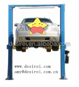 Gantry Dual-cylinder Cable equalized Chain driven single lock Two Post Hydraulic Car Elevator
