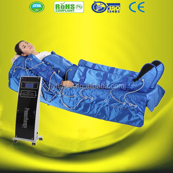 Electro Infrared Body Slim Pressotherapy Supplier/factory price Pressotherapy heating toxin drainage suit