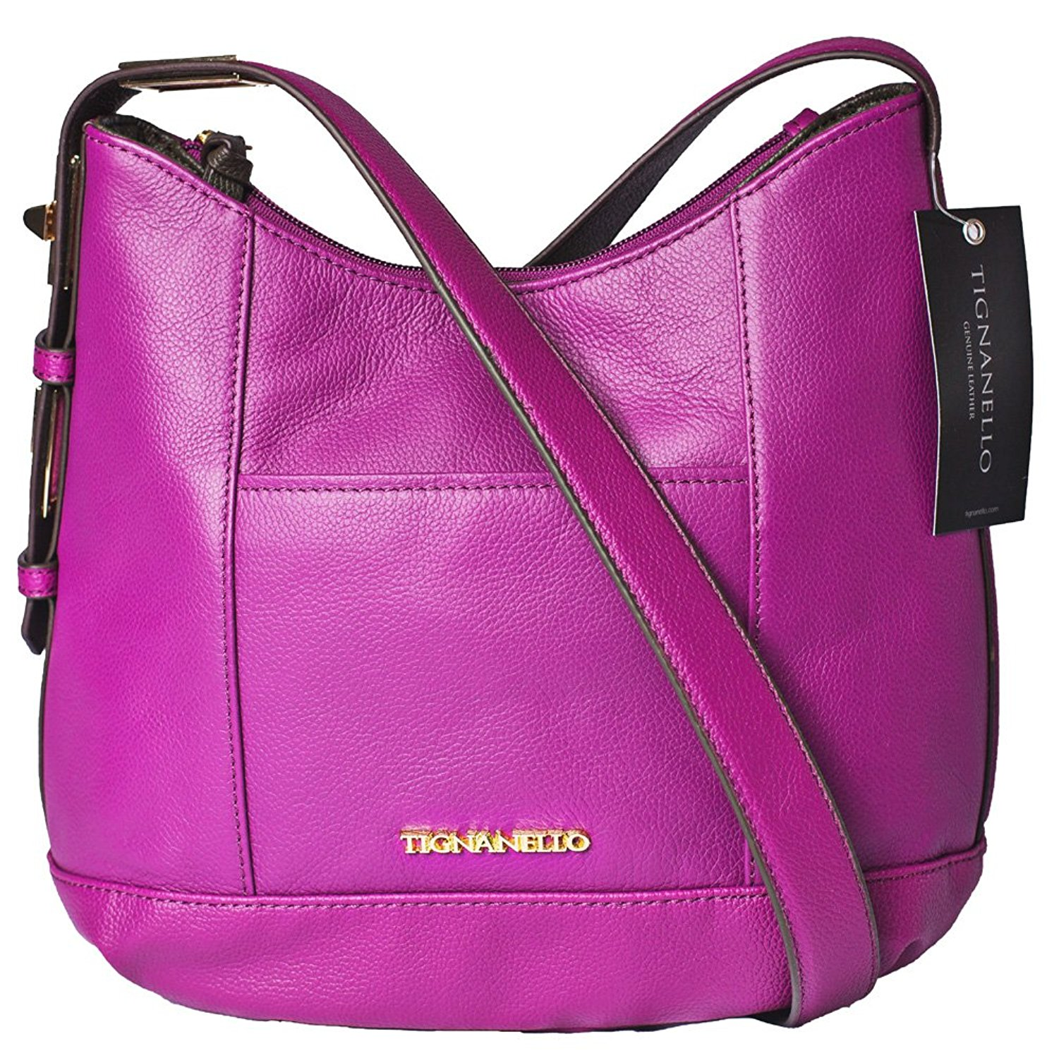 Get Quotations · Tignanello Pop Star Hobo Cross Body Purple A272719 7d2d348d8d