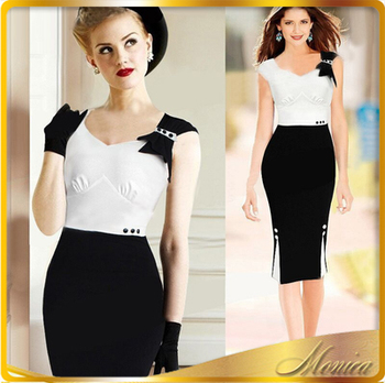 Wholesale Pictures formal dresses women office wear for women ...