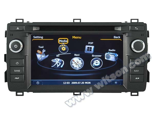 WITSON FOR <strong>TOYOTA</strong> AURIS 2013 <strong>CAR</strong> RADIO DVD GPS WITH 1.6GHZ FREQUENCY DVR SUPPORT WIFI STEERING WHEEL
