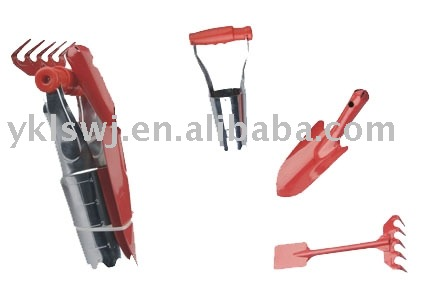 3pcs garden tool set for trowel,bulb planter and hoe