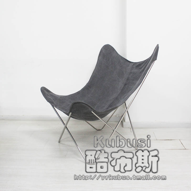 Cool retro Continental Creative Booth thick leather recliner lounger chaise lounge chaise lounge living room