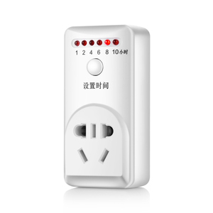 Indoor Plug In Countdown Timer Outlet with ON/OFF, 1/2/4/6/8/10 Hours Options, 2 Grounded Outlets