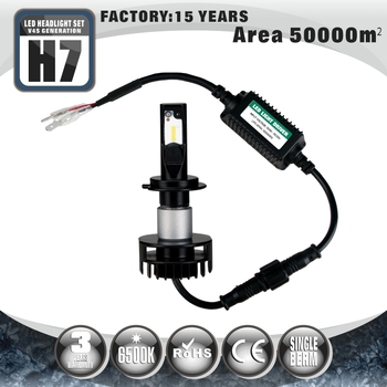 Super bright cool white single beam Car H7 led headlight bulb for auto parts