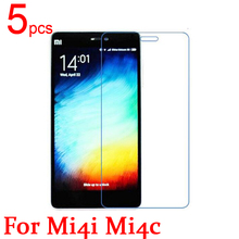 5pcs Ultra Clear LCD Screen Protector Film Cover For Xiaomi M4i Mi4i Protective Film  +  cloth