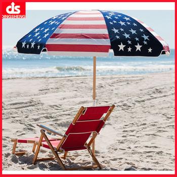 Outdoor Wooden Beach Umbrella