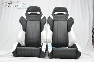 Imitation leather sport car racing seats folding car seats with rails