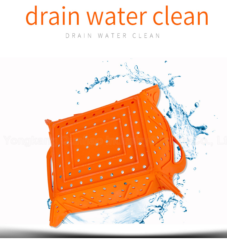 Silicone mat foldable basket strainer,silicone dish drying mat