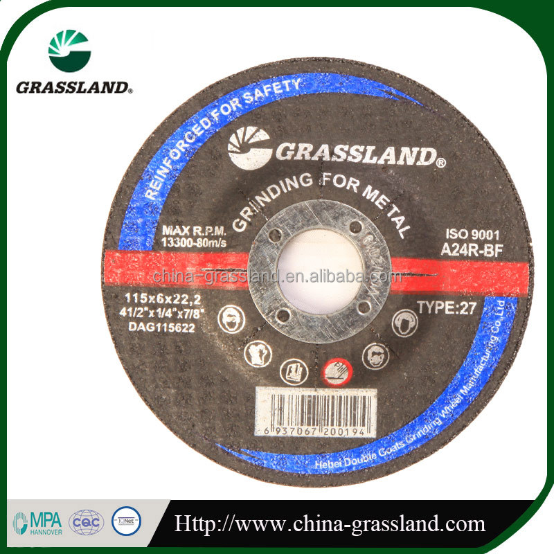 "4"" resin bond cutting wheel for metal supplier en12413 and MPA"
