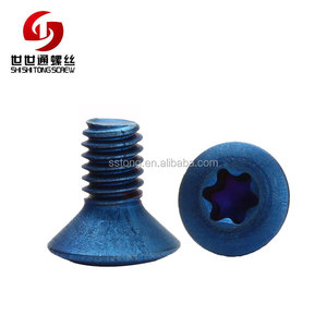 Factory Top Quality Anodized Raised Countersunk Oval Head Star Imbus Micro csk Anodized color Titanium Screw M3 Torx