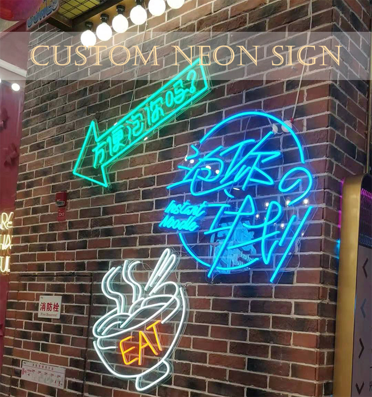 Custom Made Neon Tanda Akrilik 12 V LED Custom Lampu NEON SIGN 3D Huruf Neon LED Rope Light