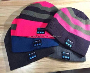 winter Acrylic bluetooth beanie hat with headphone