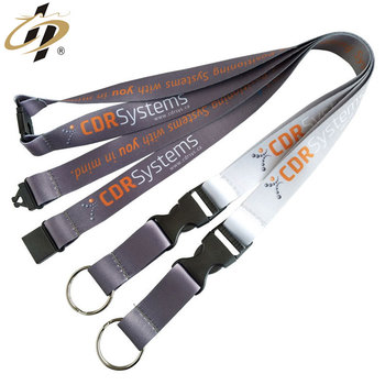 Factory wholesale sports medal custom heat transfer lanyard with metal hook