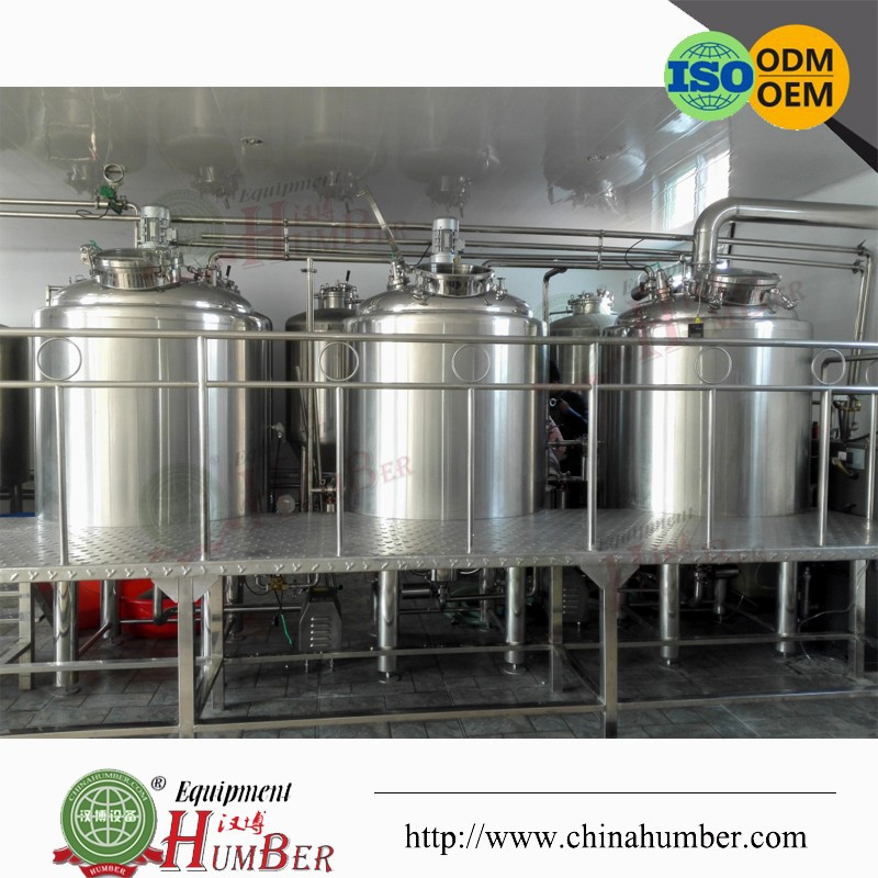 Stainless steel 500L brewery system with CIP