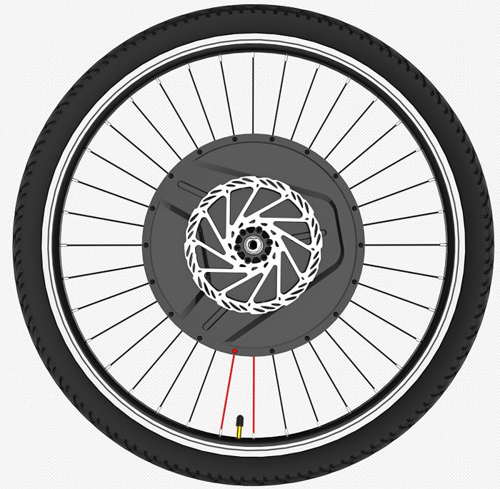 Full Wireless 40km/h iMortor III 36V 800W 24/26/27.5/700c/29 Inch iMortor 3.0 Electric Bicycle Hub Motor Kit