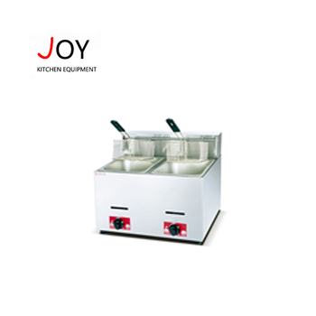 New design kfc counter top high temperature 2 tank small potato chips gas fryer