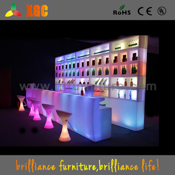 new design 16 colors changing restaurant bar counter design with 12