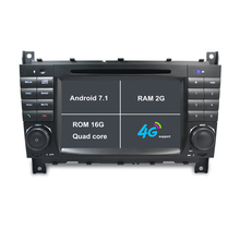 2G RAM Android 7.1 Car DVD for Mercedes Benz C Class W203 CLK W209 CLS W219 Car Radio GPS stereo tape recorder 4G bluetooth SWC