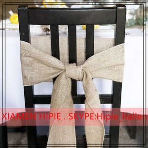 "Burlap Chair Sashes 6""x108"" Wedding Event Parties Shows 100% Natural Jute"