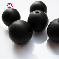 New Design Top Quality Crystal Beads Wholesale Italy Murano Loose ball Beads 6 mm round beads frosted matte white and black