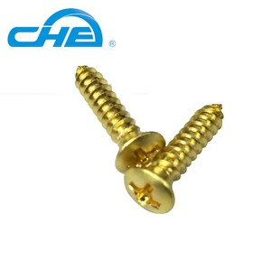 China Phillips #6 x 1/2 sheet metal screw brass self tapping screw