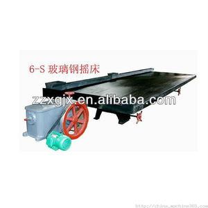 6-S shaking table for gold,zircon,chrome,tin etc ore separation