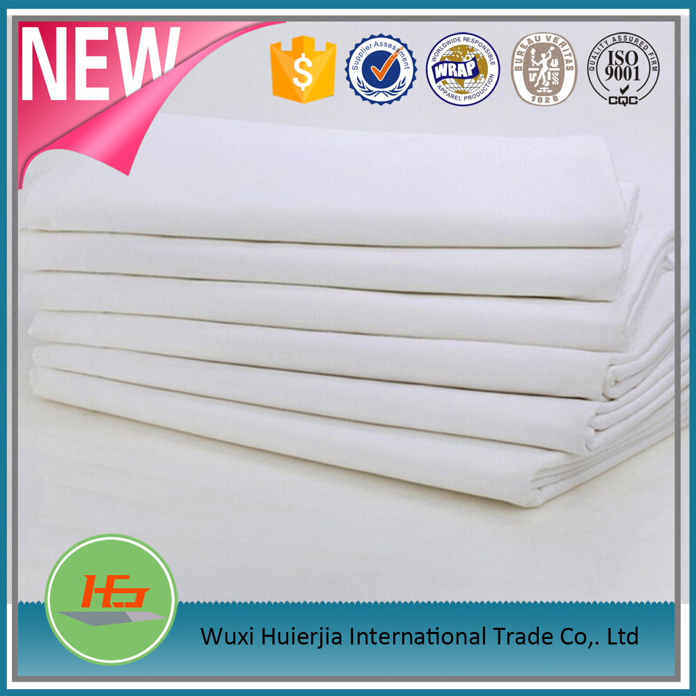 2015 high quality factory price unbleached poly/cotton grey hot fabric