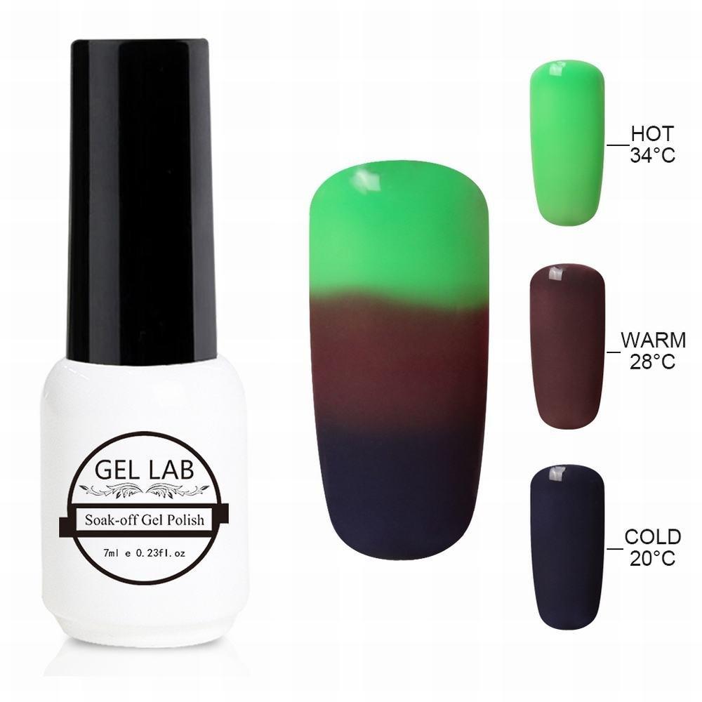 GEL LAB 7ml Chameleon 3 Way Tri-Color Temperature Changing Color Nail Lacquers Soak Off UV LED Gel Polish TC4227
