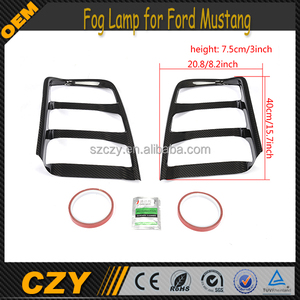 Front Bumper Carbon Fiber Mustang Fog Lamp Cover for For d Mustang 2015Up