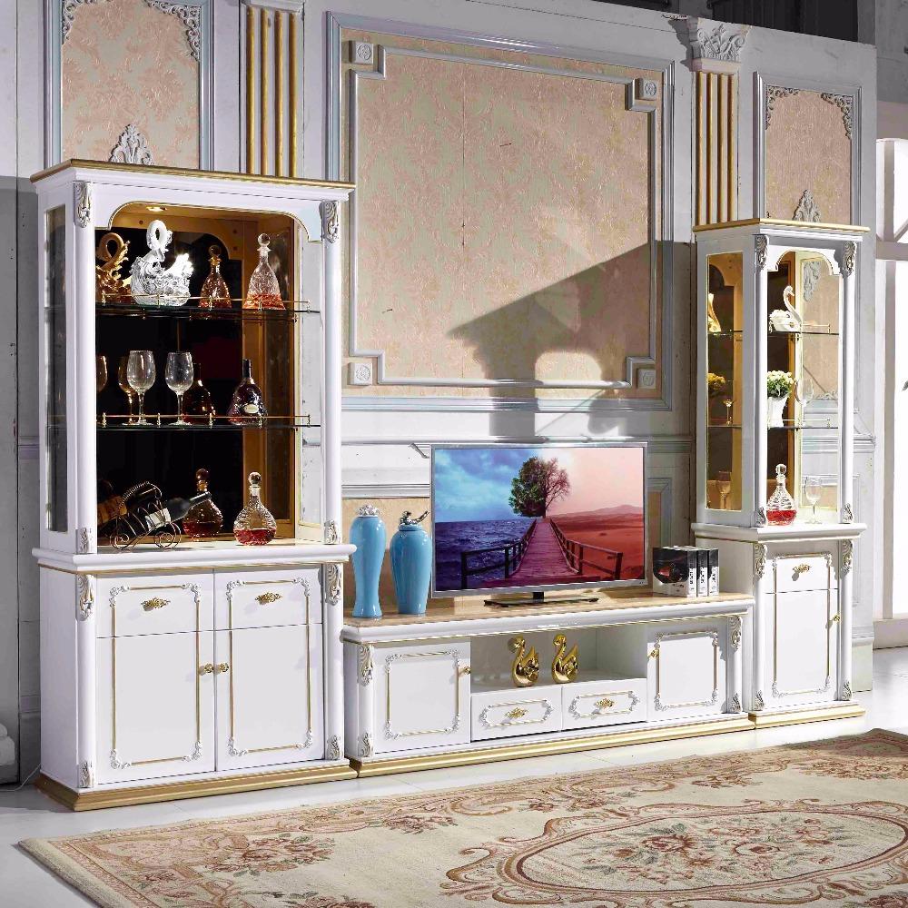 Woonkamer meubels model i vormige antieke lcd hout tv stand houten kasten product id 60397983576 - Meubels set woonkamer eetkamer ...