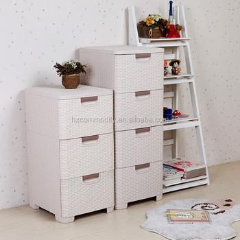 Einfache Klassische Design Baby Schrank Kunststoff 3 Schubladen