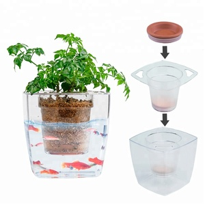 flower pot fish tank pot planter home hydroponics dutch pot