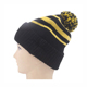 Custom brief fashion knitted pompom cuffed adult beanie hat wholesale
