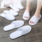 Cheaper Disposable Polyester Terry Towel Eva Sole Hotel Slippers Customization