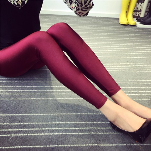 Shiny Spandex Rosa Satin Leggings