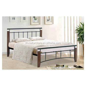 Wood Leg Metal Bes With Frame Base Beds Bedroom Furniture