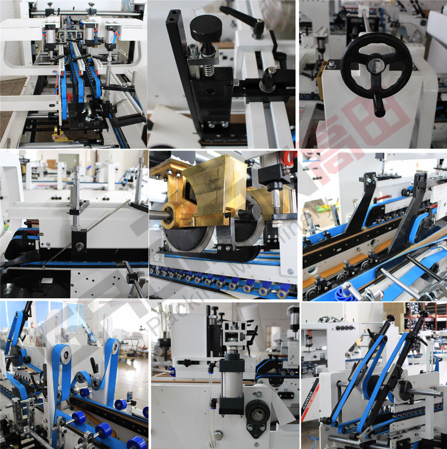 High Speed Best Selling 7 KW Paper box automatic folder gluer machine SHH-AG