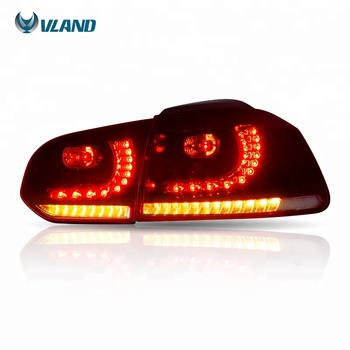 VLAND car accessories wholesales sequentail full led vw mk6 golf tail light 2008-2014 golf 6 rear light