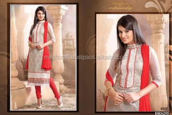 b5be8fc4fb Designer Punjabi suit material -Wholesale Dress material - Chiffon embroidery  work salwar kameez-Wholesale